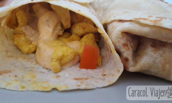 Receta de kebab de pollo ligero | Shawarma light