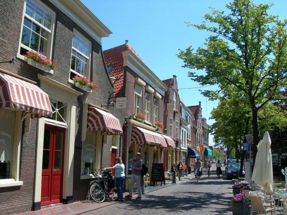 calles y tiendas
