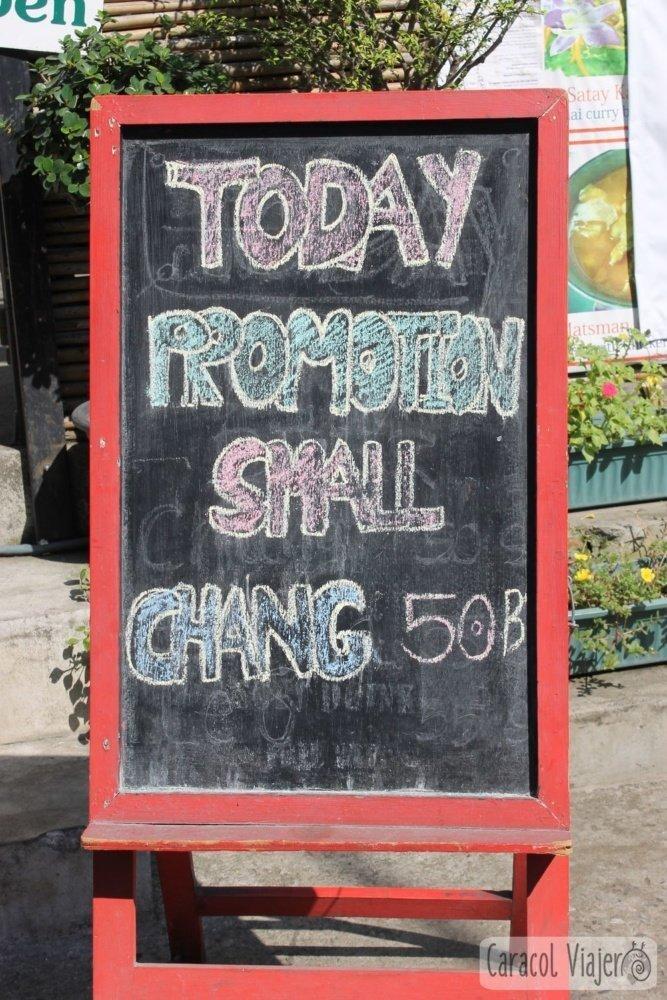Cerveza Chang oferta