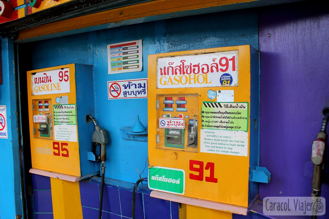 Doi Inthanon gasolina - ruta Mae Hong Son