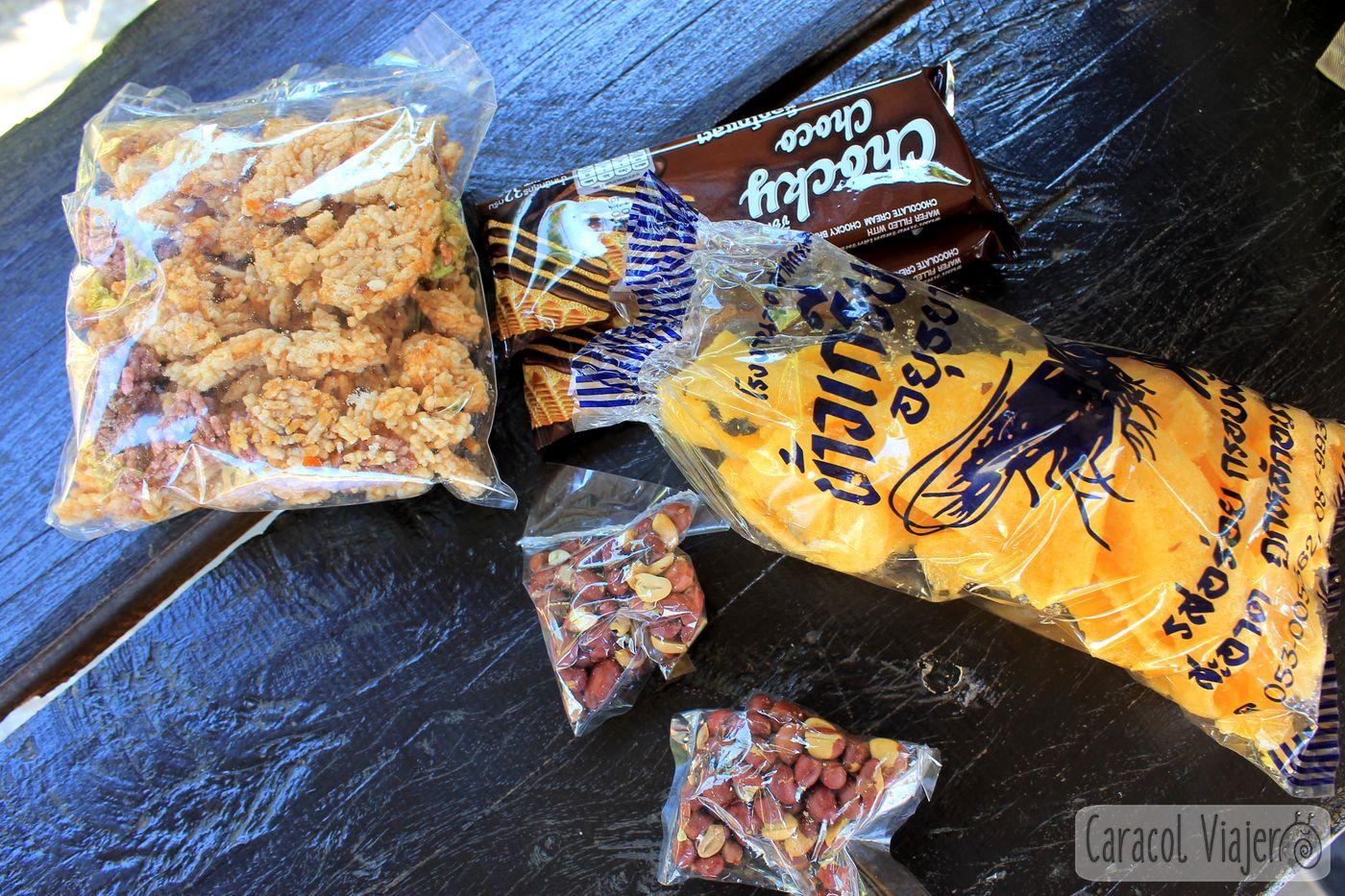 snacks variados en Tailandia