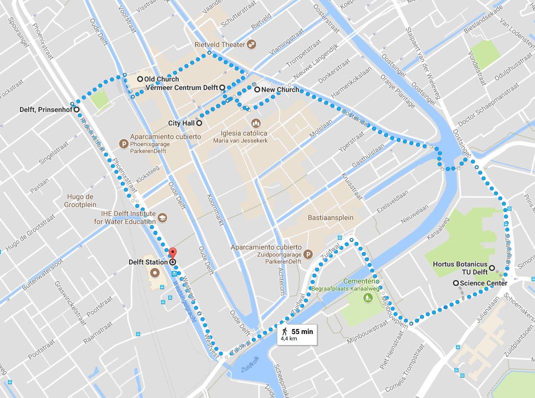 Recorrido Delft