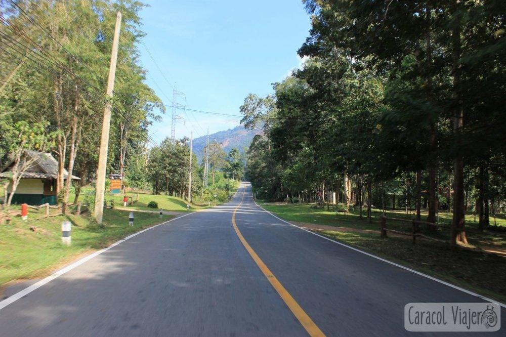 Carreteras entre Mae Hong Son y Pai