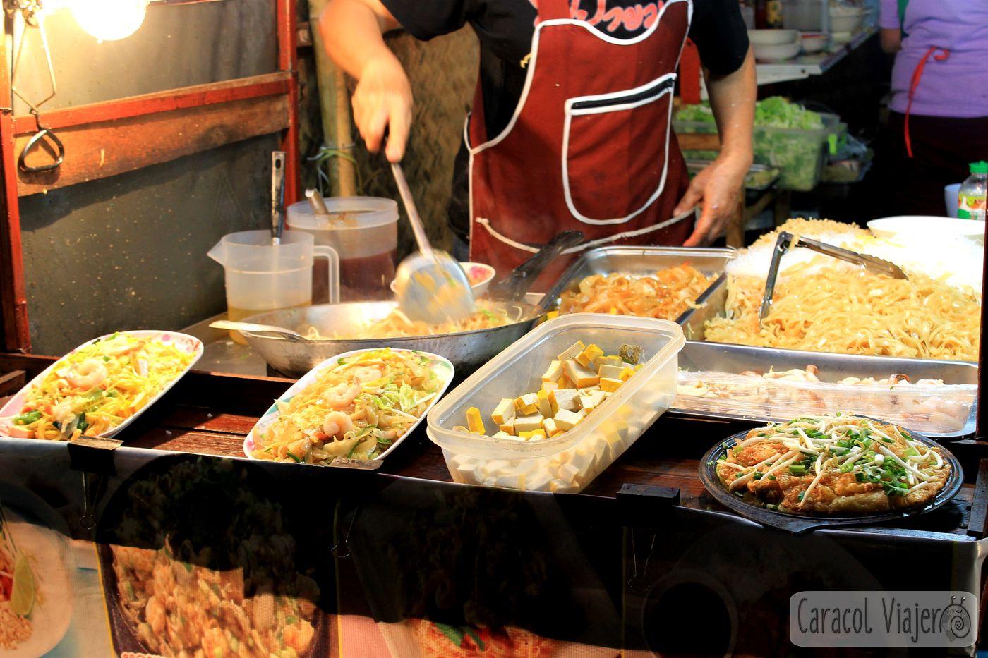 Pad Thai preparación