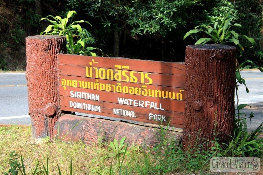 Excursión a Doi Inthanon - Cartel del Sirithan waterfall
