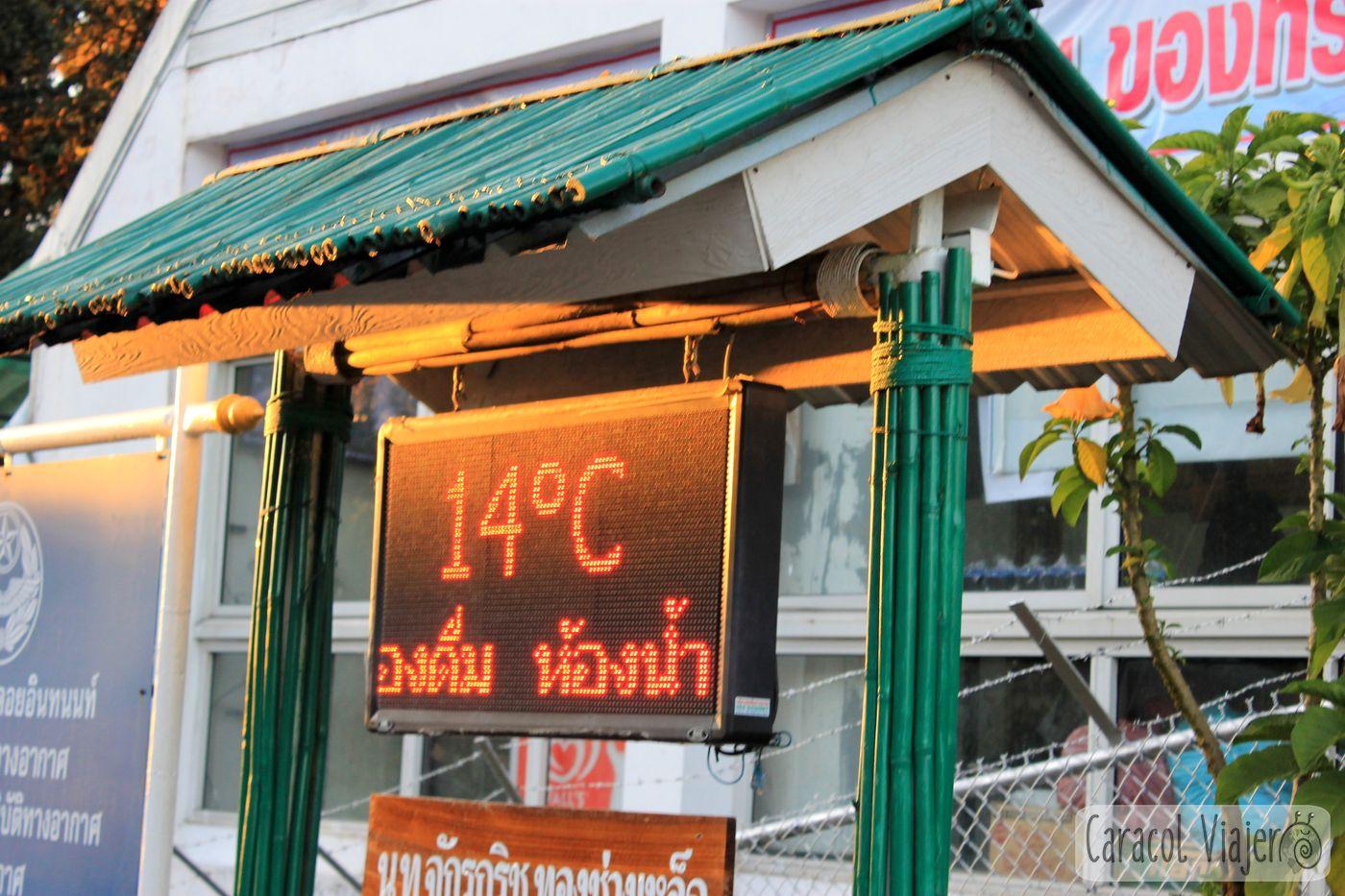 Tailandia Doi Inthanon temperatura