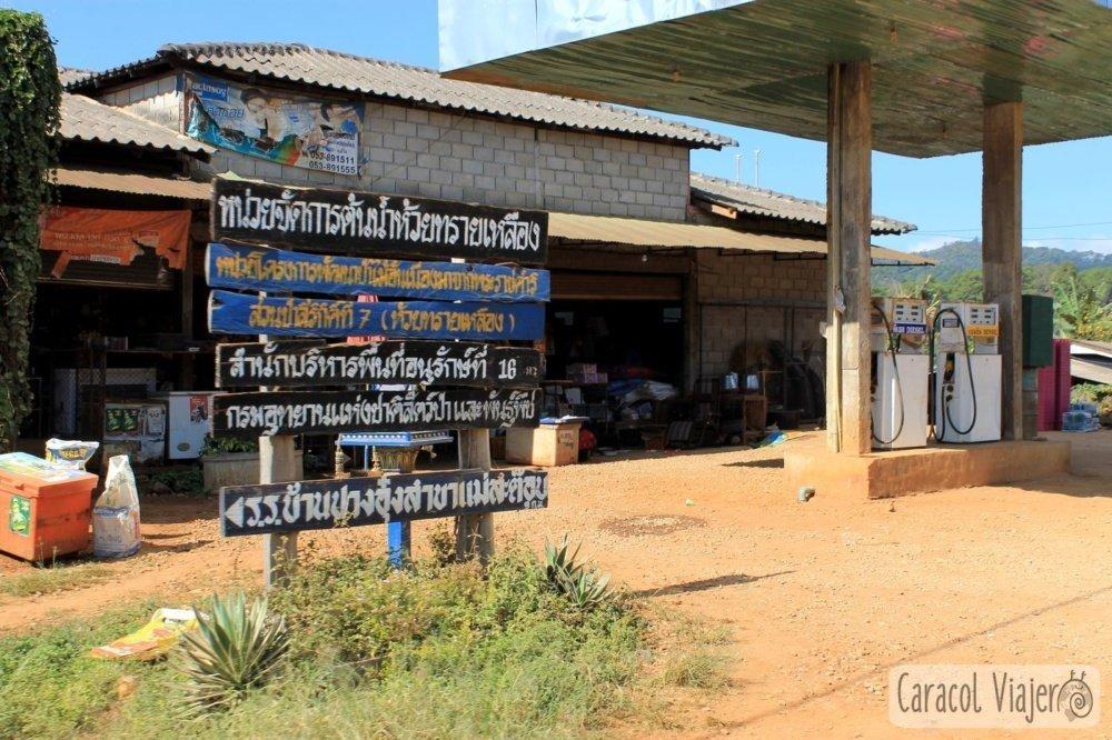 Gasolinera ruta Mae Hong Son