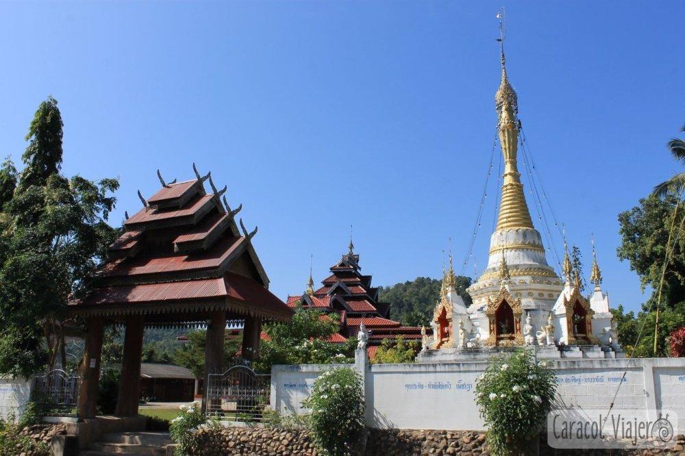 Pueblos de ruta norte Tailandia