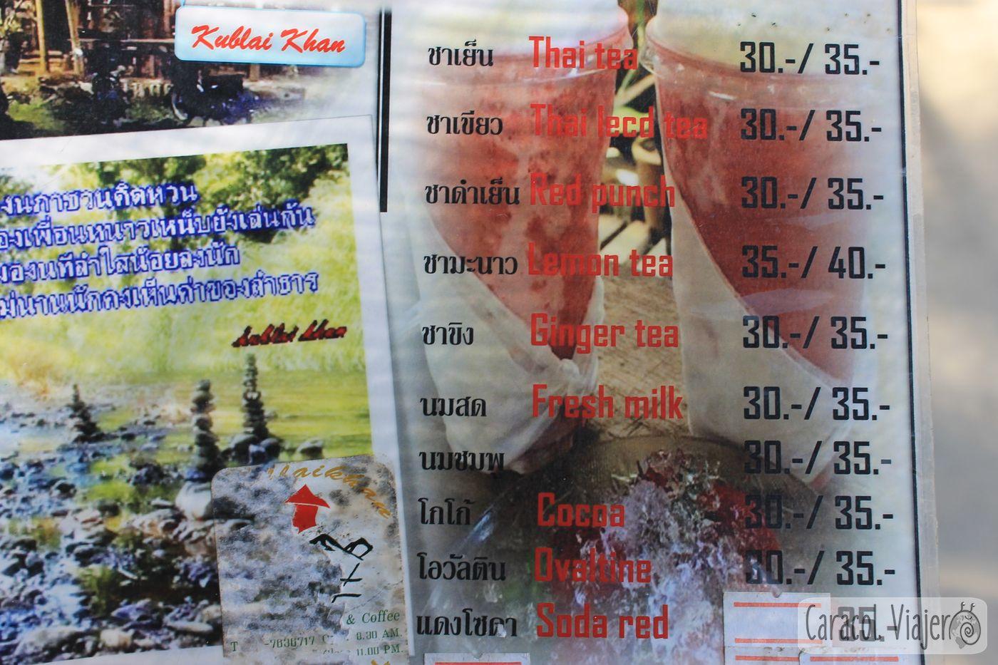 Bebidas en Tailandia