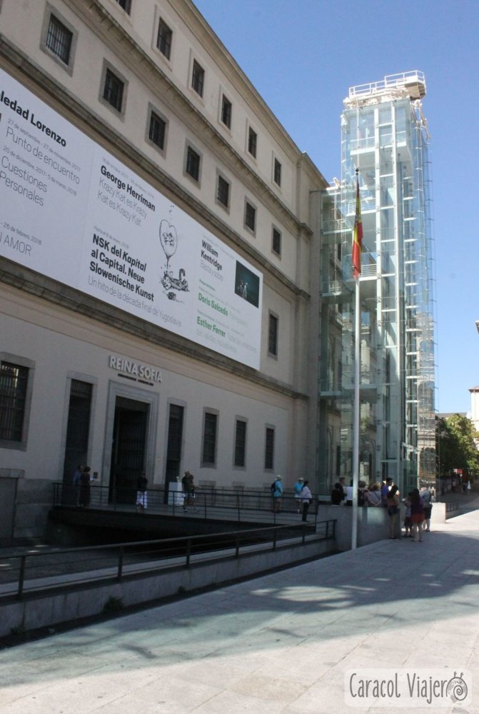 Reina Sofia exterior. Madrid