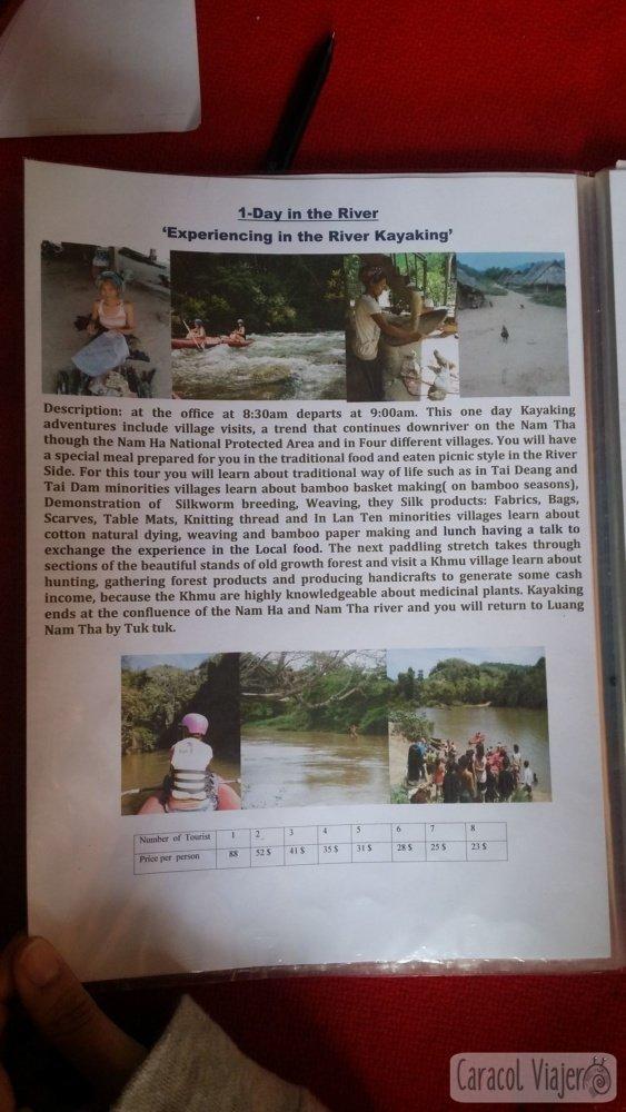 Folleto de Laos