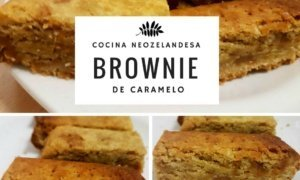 Brownie de caramelo neozelandés