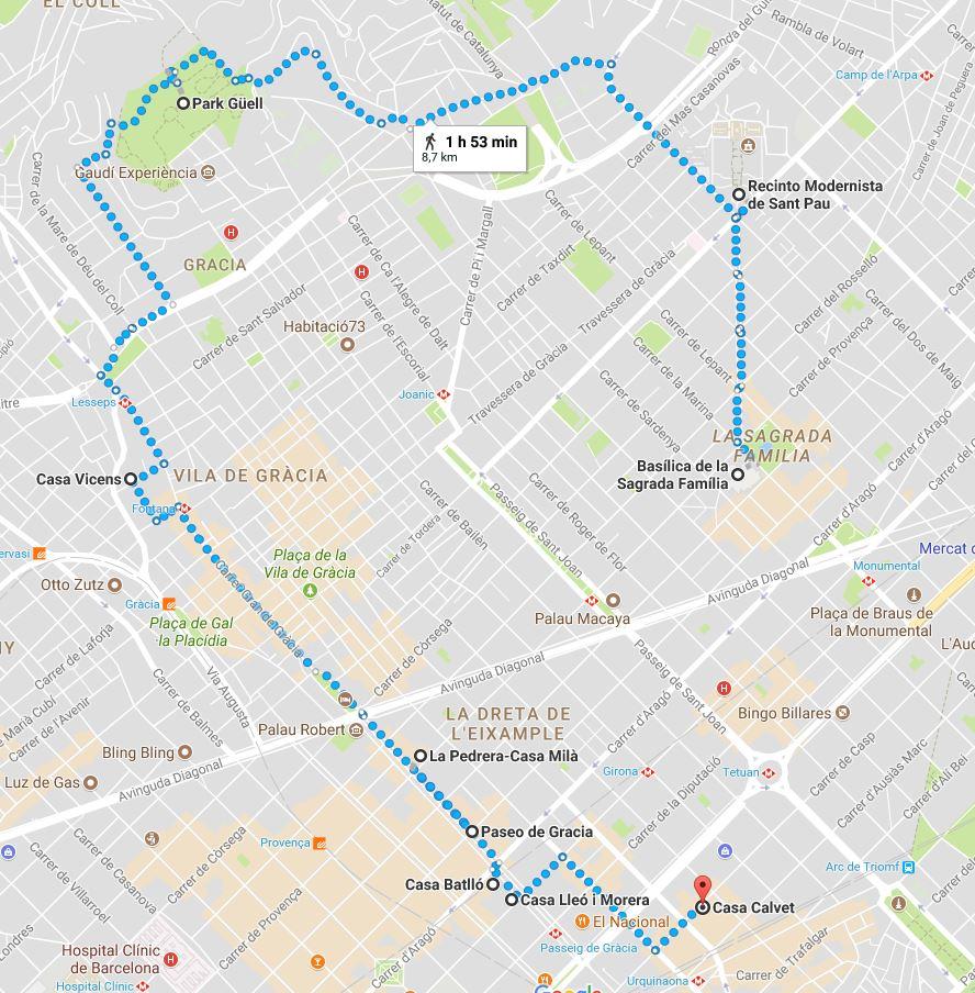 Ruta 1 qué visitar en Barcelona