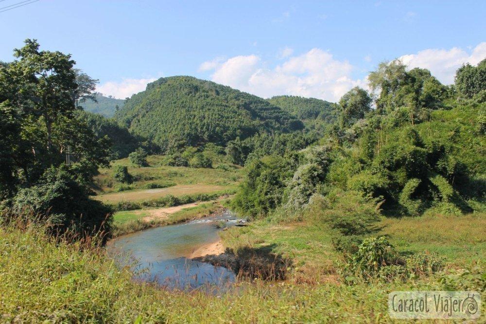 Paisaje de norte Laos