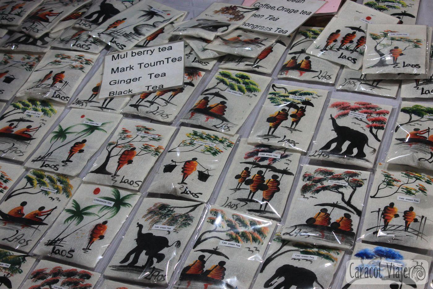 Bolsitas de té en Luang Prabang