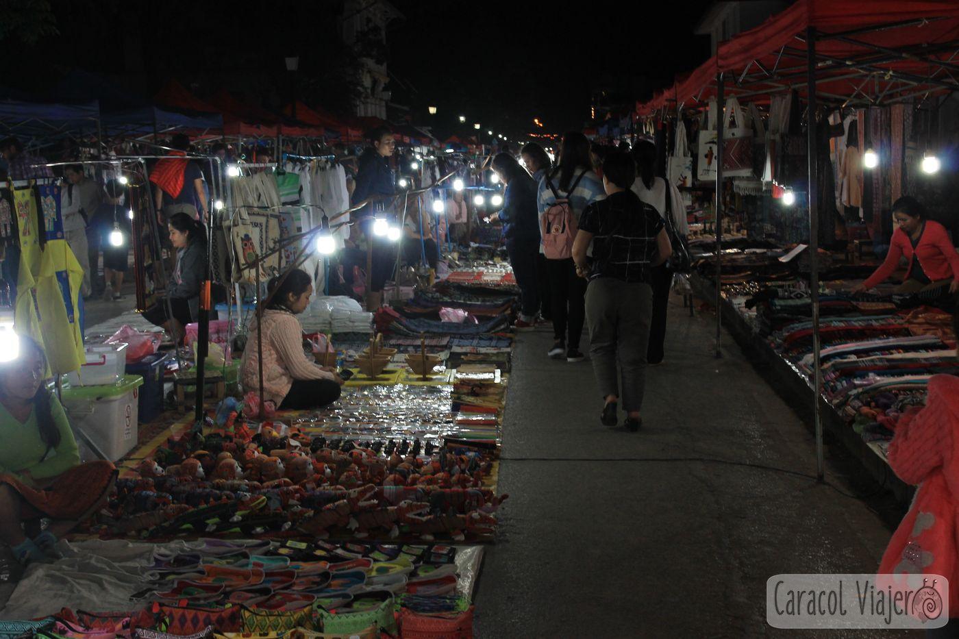 Laos Mercado Nocturno