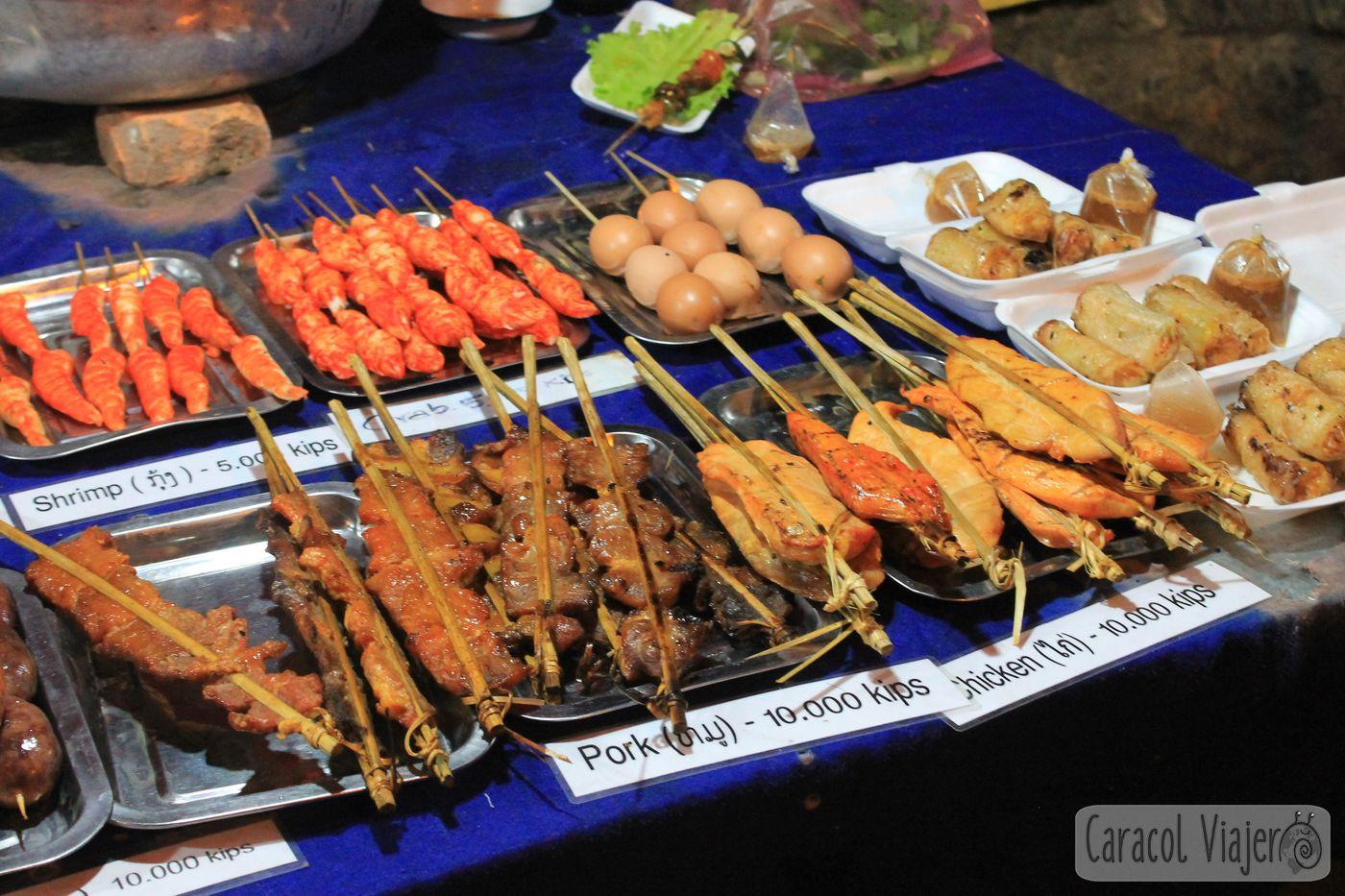 Comer en Luang Prabang