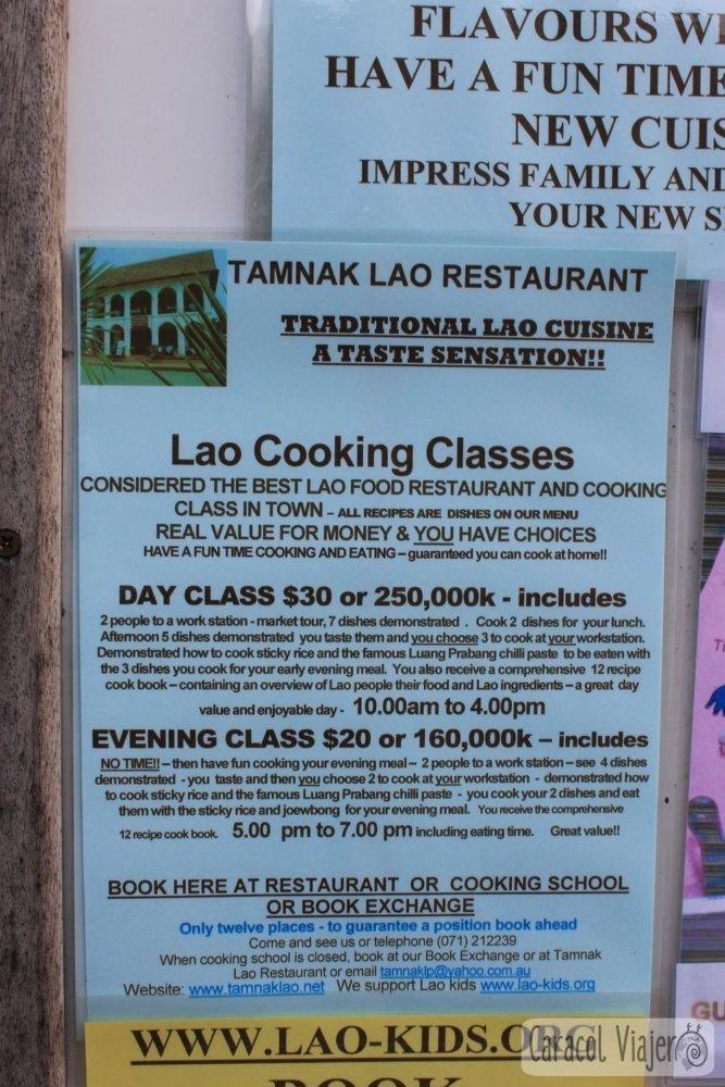 Cooking class Laos