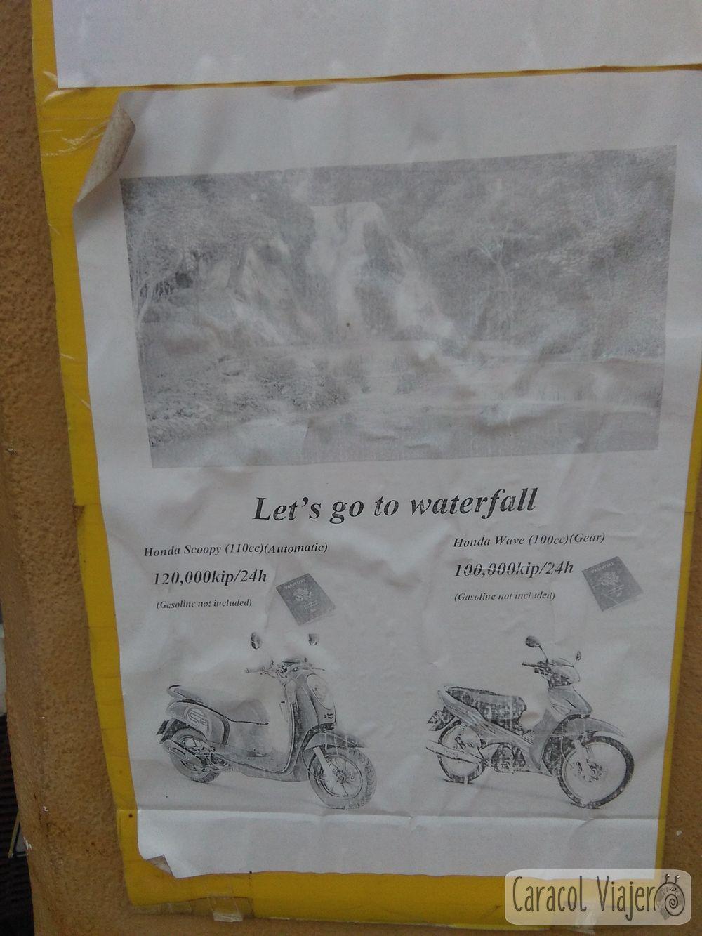 Alquiler moto L.Prabang