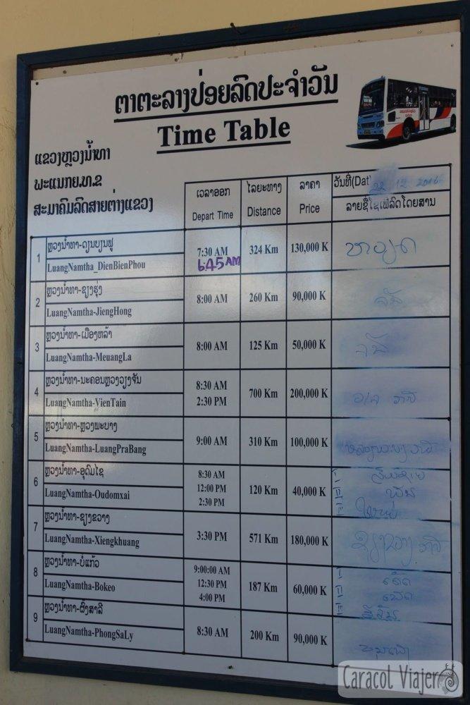 Buses a Luang Prabang