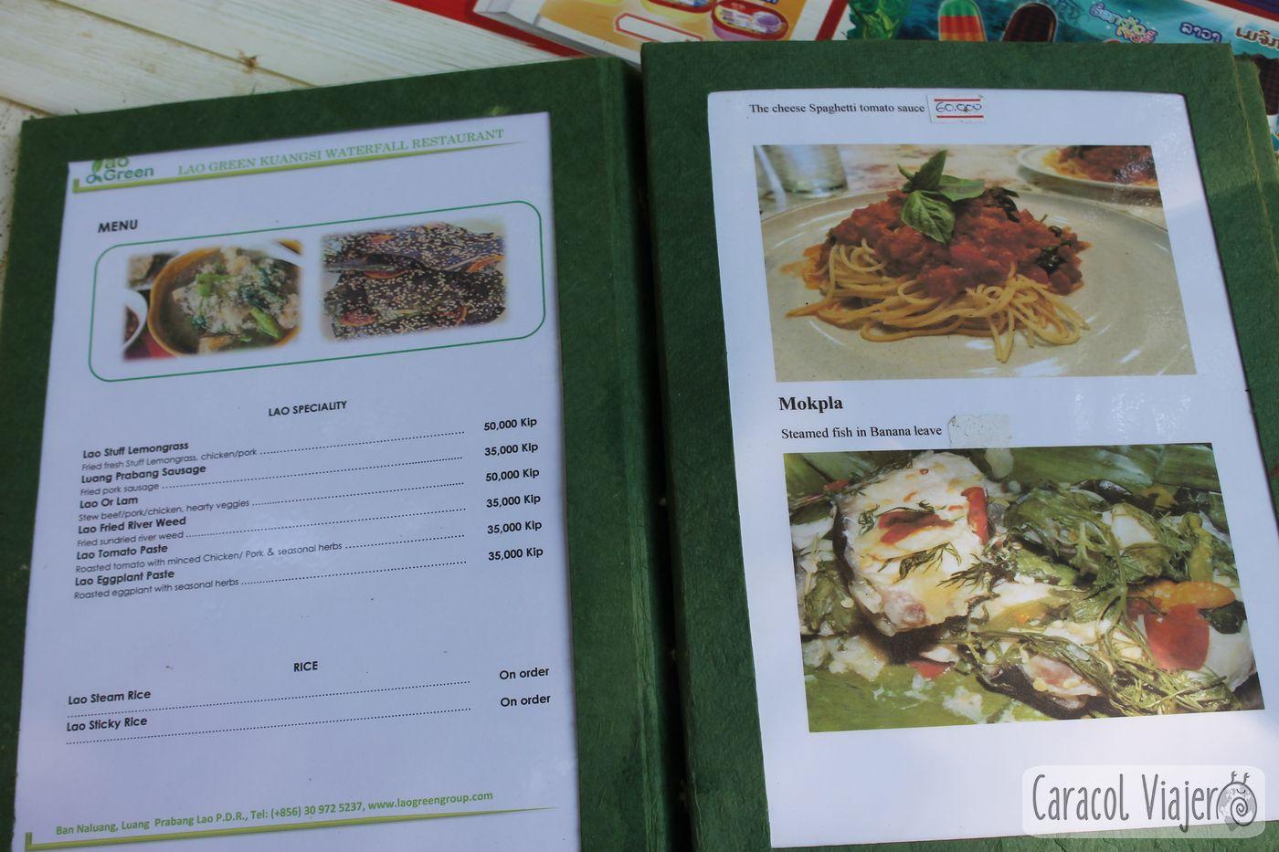 Precios comida Laos