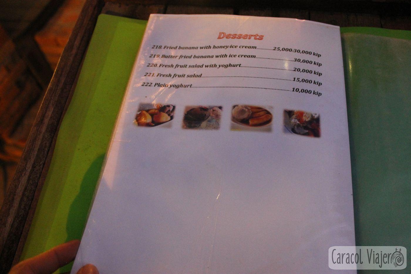 Precios comida Luang Prabang