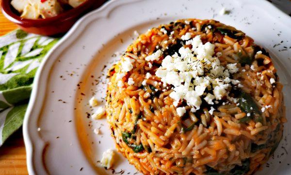 Spanakórizo griego – Arroz con espinacas en 25 minutos