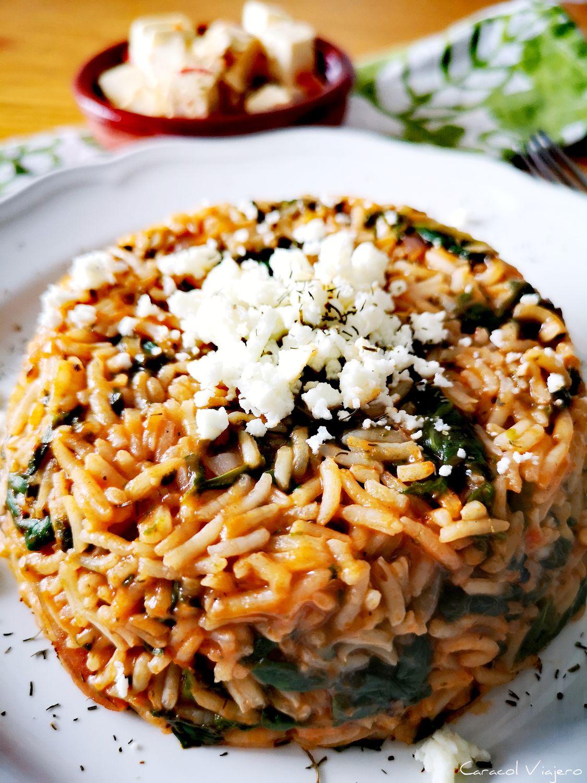arroz con espinacas - receta de spanakórizo griego