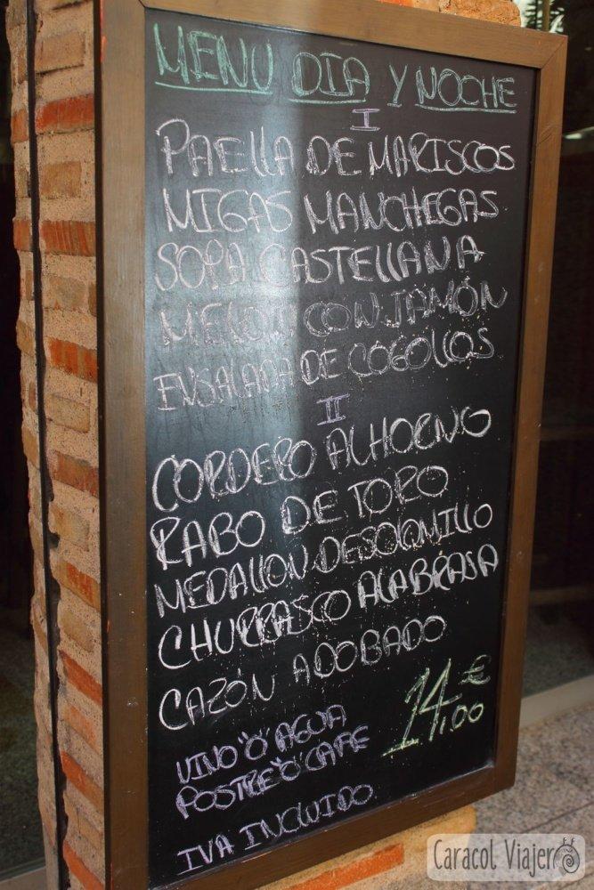 Precios comer en Toledo