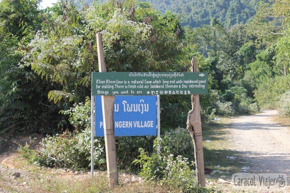 Cartel cuevas Laos