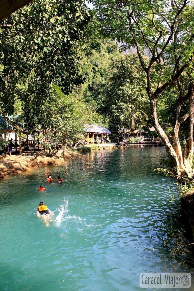 Blue Lagoon en Vang Vieng