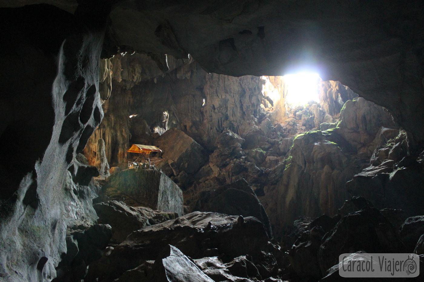 Vang Vieng, Blue Lagoon cueva