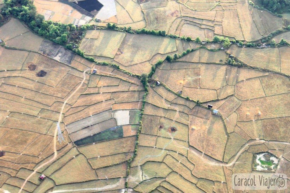 Vang Vieng globo campos arroz