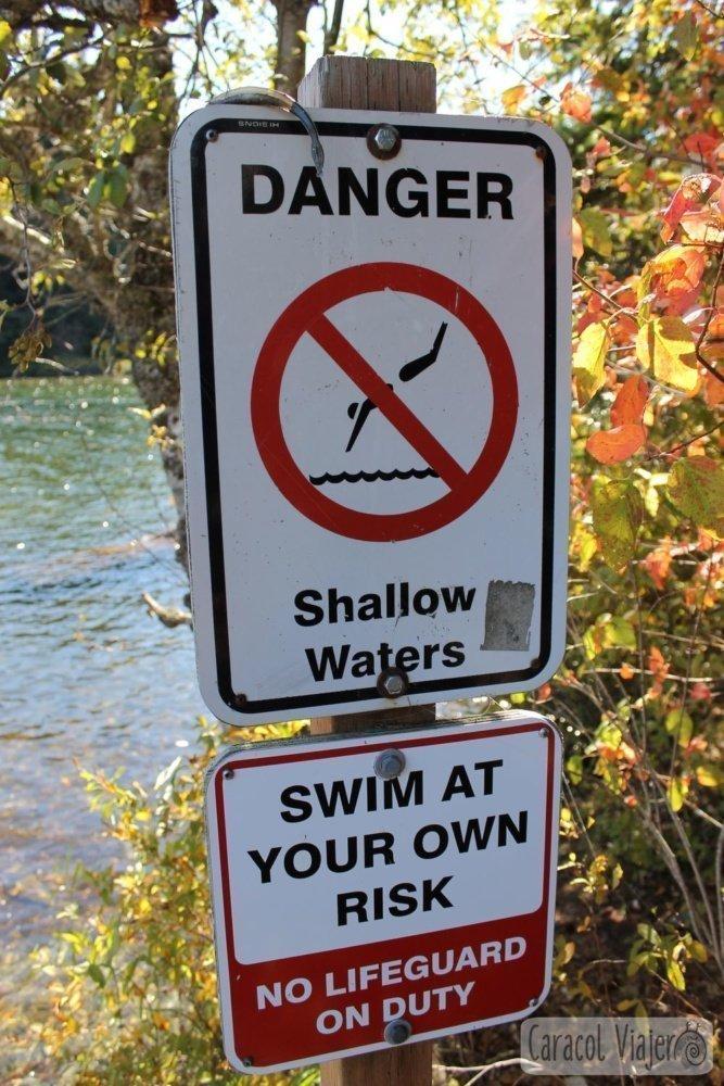 Cartel no nadar Whistler
