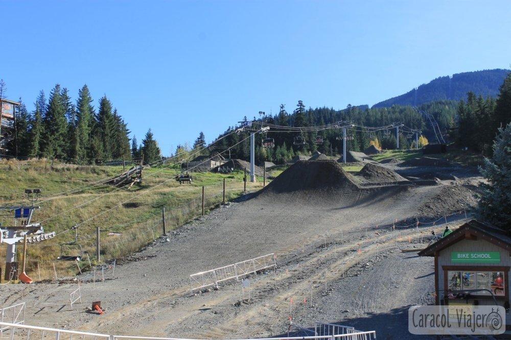 El parque de bicicleta de montaña de Whistler
