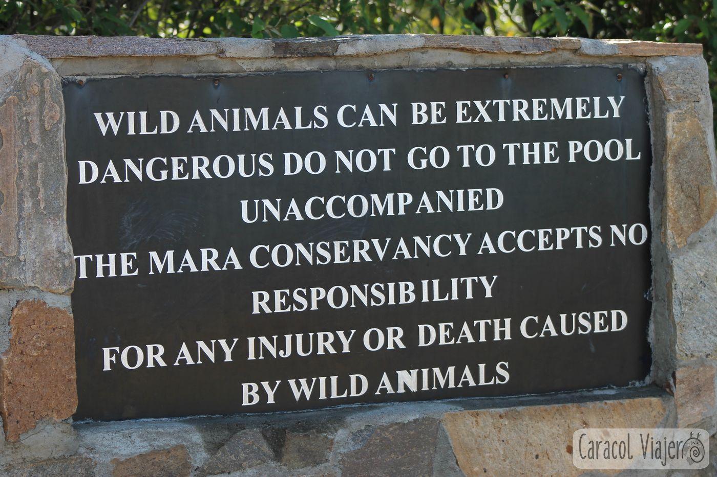 Advertencia animales