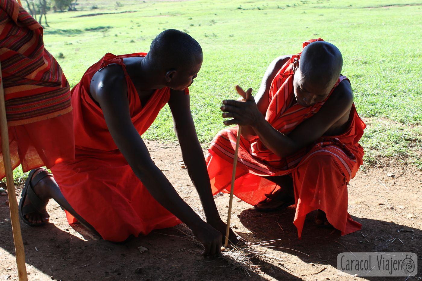Masais poblado