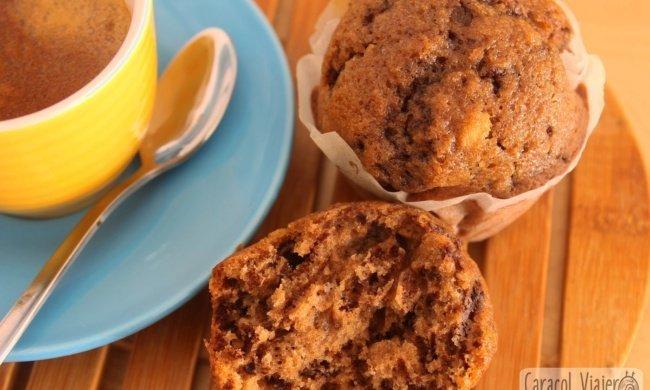 ¡La receta americana de los muffins de chocolate!