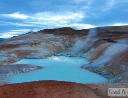 Krafla, la zona volcánica de Islandia
