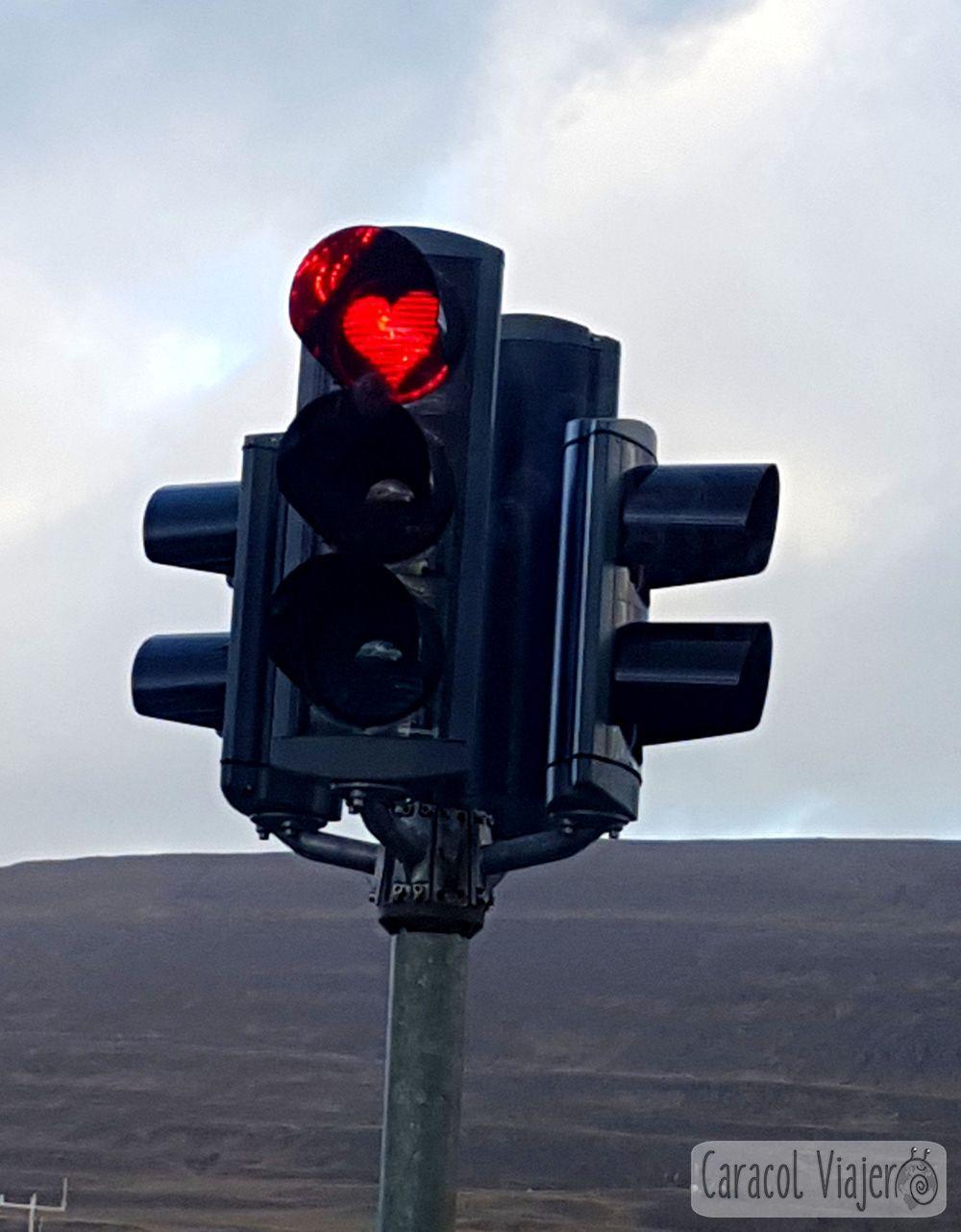 Semáforo en Akureyri Islandia