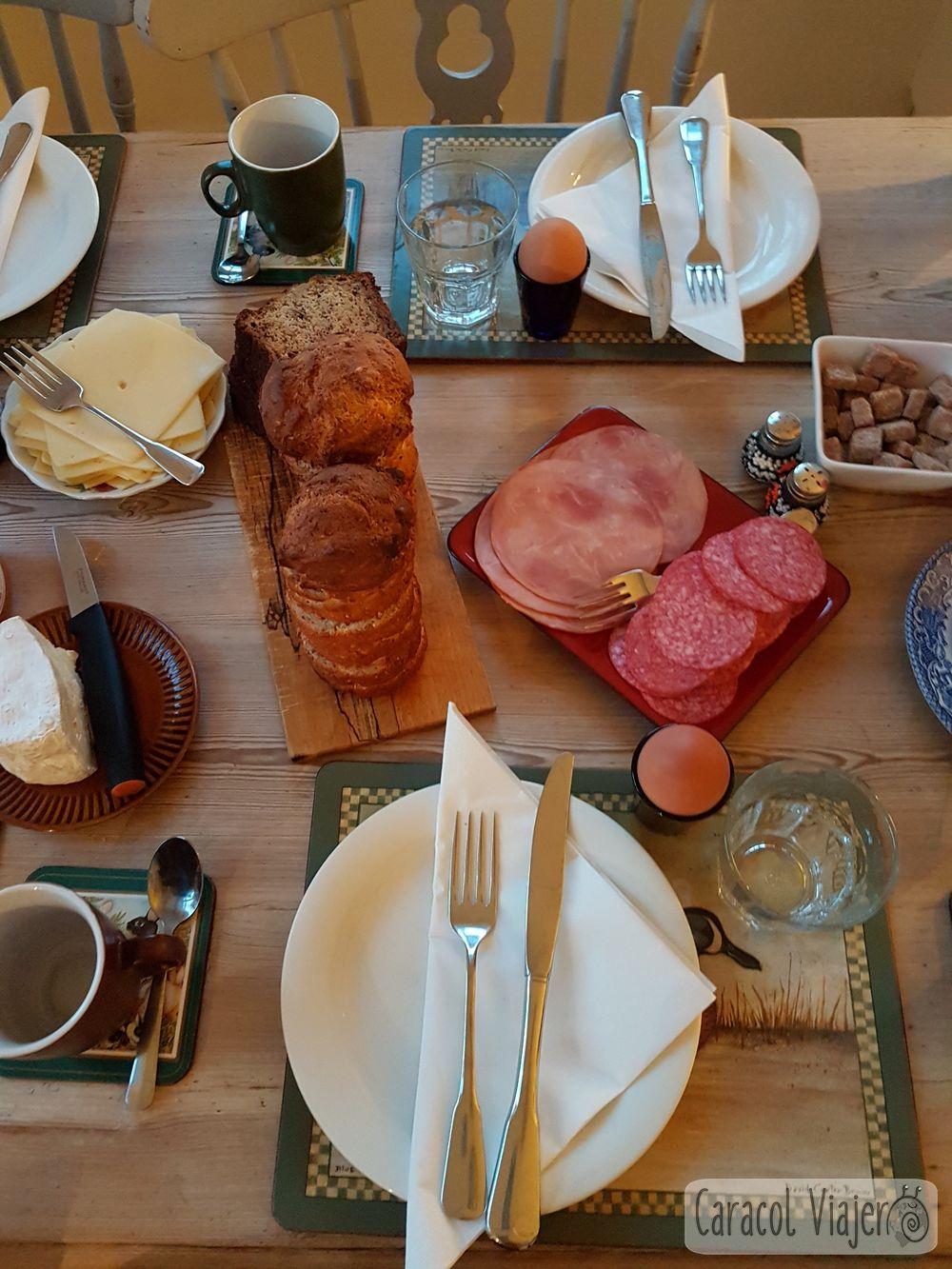 Desayuno en b&b Islandia