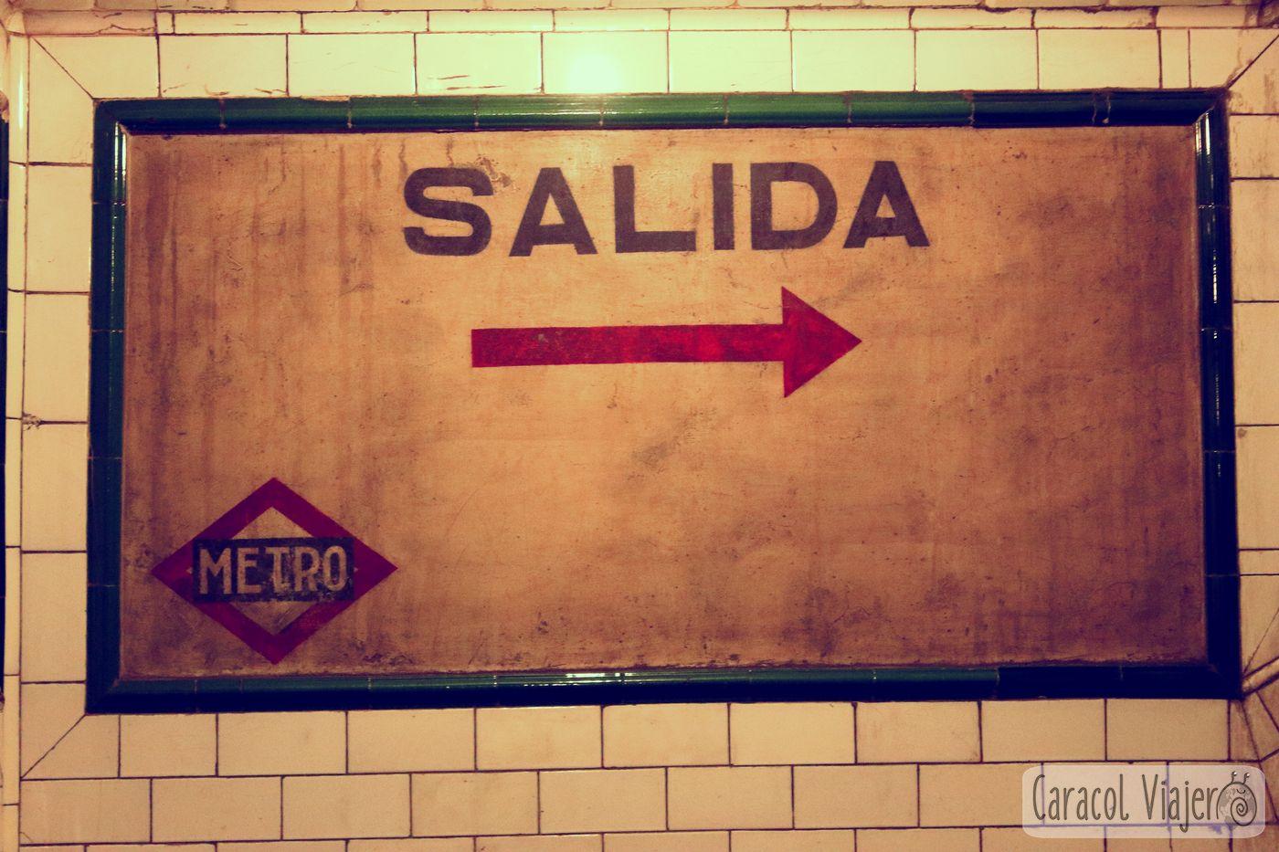 Salida del metro de chamberí