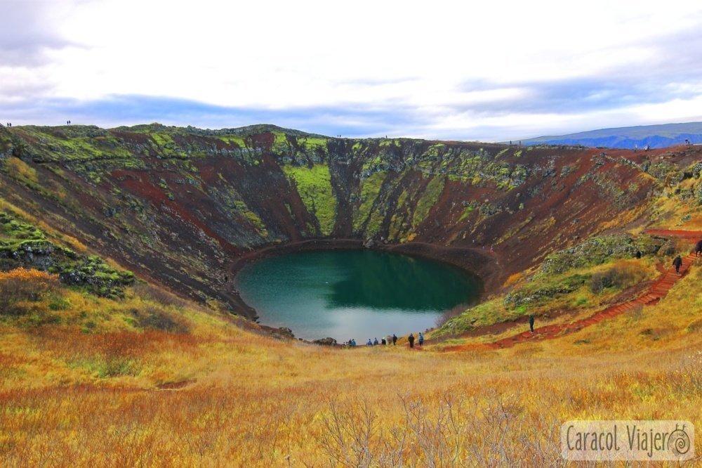 Cráter Kerid en Islandia