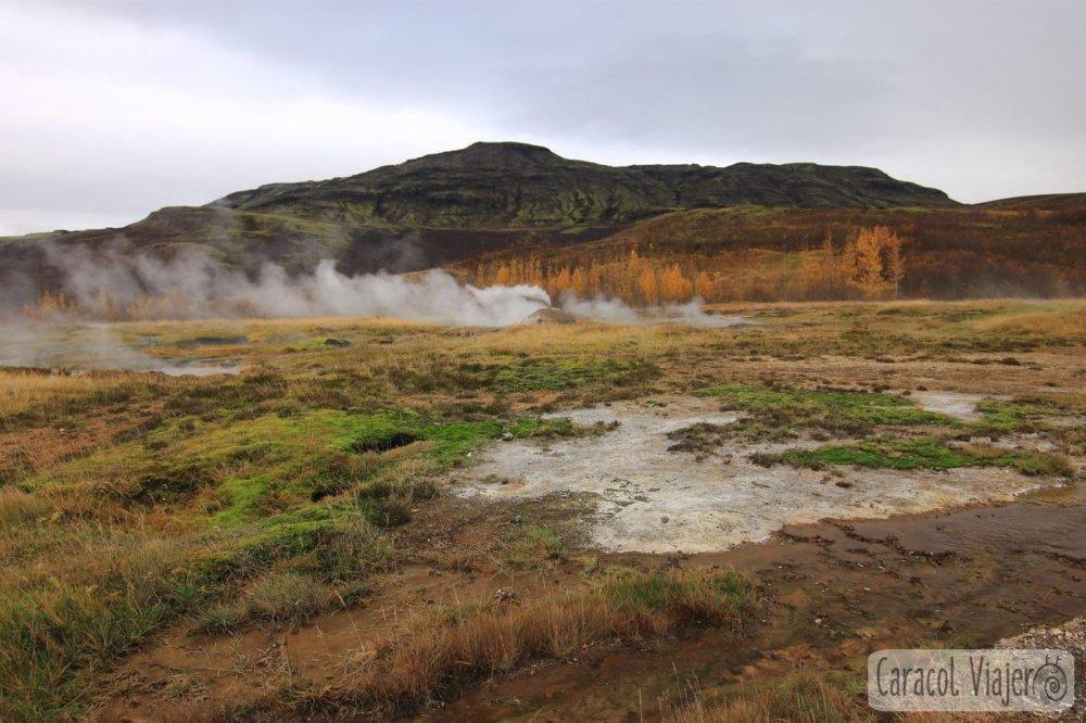 Geysir humo géiser Islandia