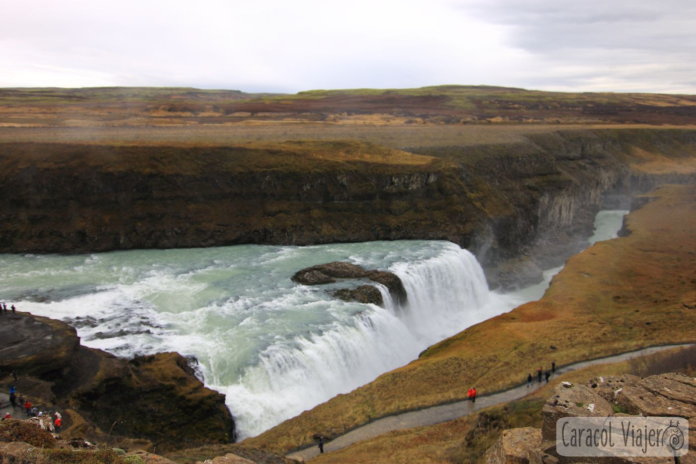 Gullfoss en Islandia Golden Circle