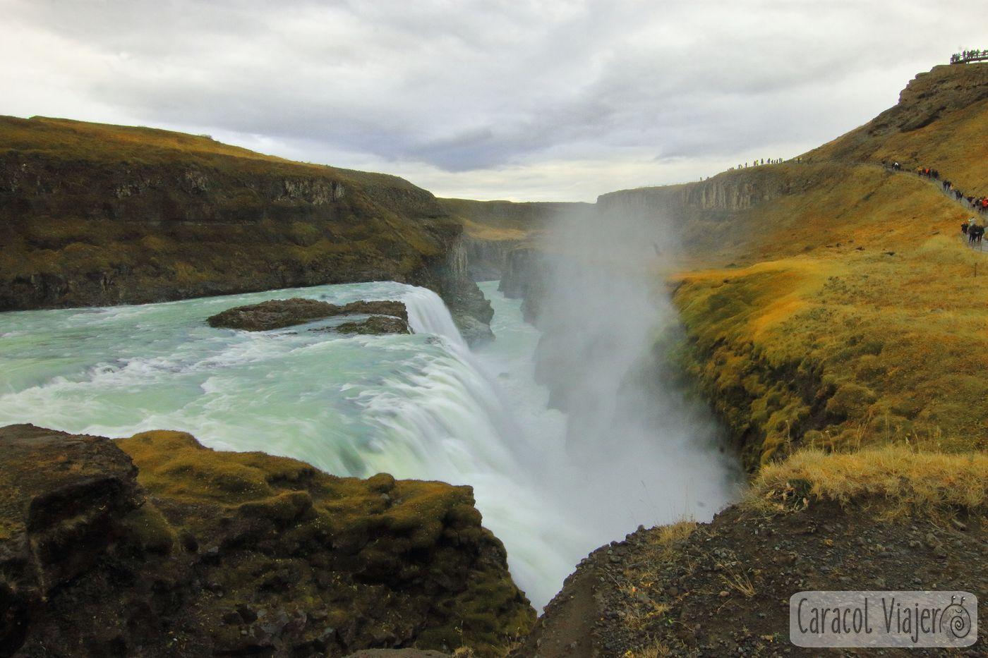 Cascadas Gullfoss en Islandia