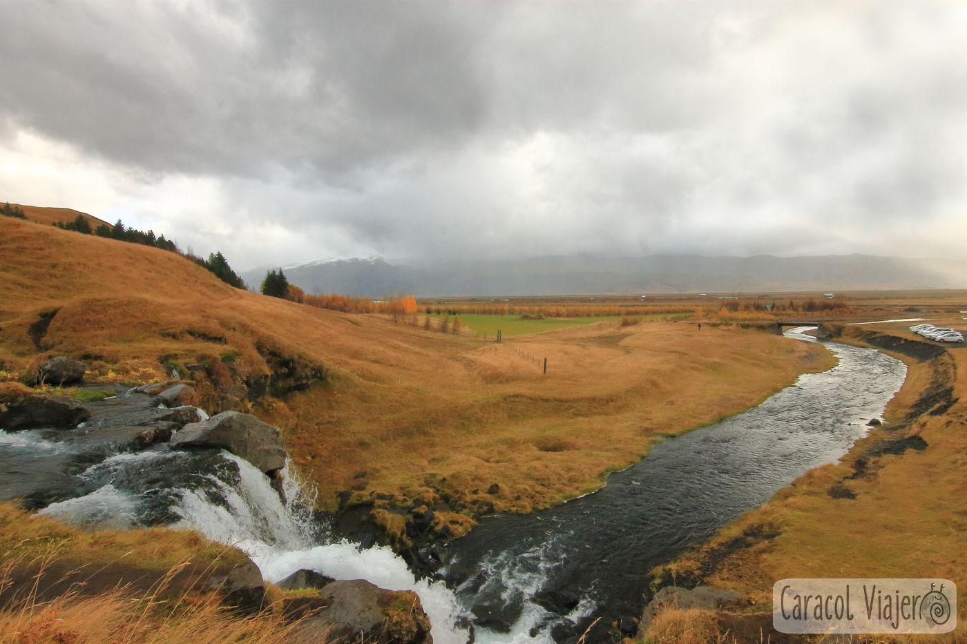 Gluggafoss cascada en Islandia