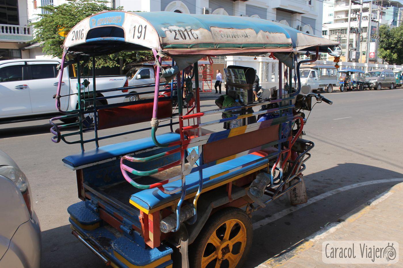 Tuktuk en Vientián