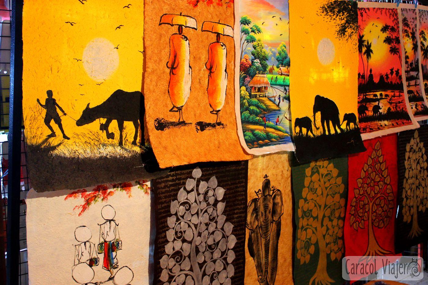 Vientián souvenirs pinturas