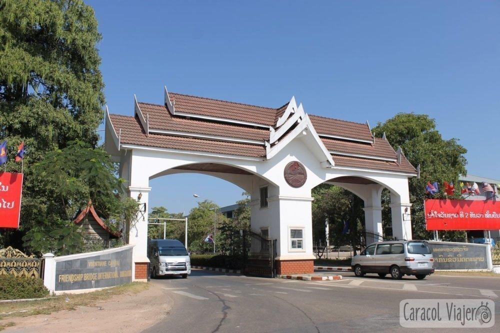 Immigration Bridge Vientiane